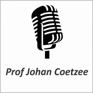 Prof Johan Coetzee